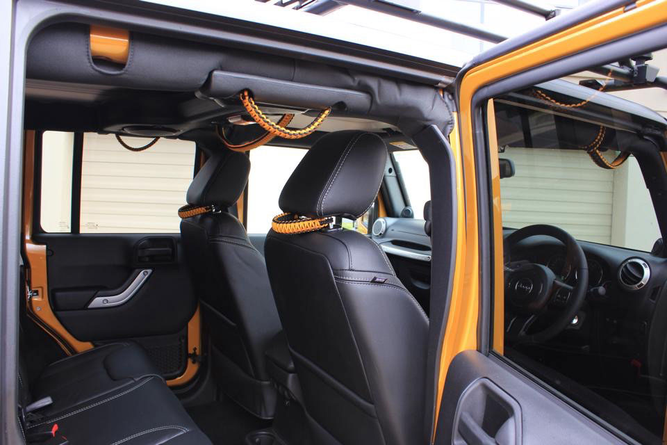 custom jeep grab handle installation how to install your custom grab handles for 2011 2014. Black Bedroom Furniture Sets. Home Design Ideas